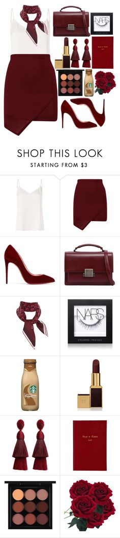 """""""Work Work Work!"""" by fashioneex ❤ liked on Polyvore featuring L'Agence, Christian Louboutin, Yves Saint Laurent, Gucci, NARS Cosmetics, Tom Ford, Oscar de la Renta, Sloane Stationery, MAC Cosmetics and WorkWear"""
