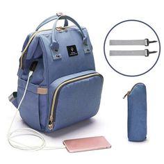 USB Interface Mummy Maternity Diaper Bag Mom Backpack Large Capacity Baby Designer Nursing Bag Travel Backpack For Baby Care ! Best Diaper Bag, Baby Diaper Bags, Nappy Bags, Diaper Backpack, Diaper Bag Backpack, Nurse Bag, Kind Mode, Baby Care, Travel Bags