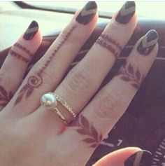 #mehendi #henna #fingers #unique #cute #design