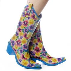 Nature Breeze Yellow-Blue Flowers Rubber Cowboy Western Rain Boots Size 11 by Nature Breeze. $34.00. Original Breeze Yellow-Blue Flowers Rubber Cowboy Western Rain Boots  of the season . They feature natural rubber outers with moisture-absorbing cotton linings . These boots also feature treaded rubber soles to provides added durability and traction for active little feet . Wear these cuties in all weather condition to treat your feet to style, comfort and warmth for comfortable,...