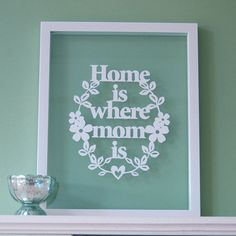 <3 Home is Where MOM Is  Papercut Wall Art by antdesign on Etsy, £15.00