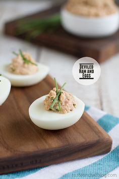 Deviled Ham and Eggs {Fridays with Rachael Ray} - Taste and Tell