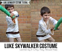 Luke Skywalker Costume Tutorial by If Only They Would Nap; (ditch the saber)