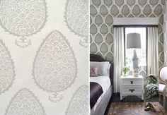 leaf wallpaper designed by Katie Ridder