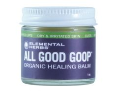 I use this for my lips.  Our first product ever to hit store shelves, we named All Good Goop when we realized how amazing it is for everything! It's organic, all natural, petroleum-free and a great moisturizer and soothing salve. Its formula is strong enough for a climber's raw knuckles and gentle enough for a baby's bottom.     All Good Goop Organic Healing Balm is great for...    Cuts, Scrapes, Abrasions  Minor Burns, Sunburn  Insect Bites, Stings, Dry and Irritated Skin  Chapped Lips…
