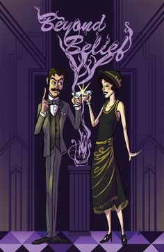 Thrilling Adventure Hour | Beyond Belief poster - unless evil's carrying the martini tray darling!