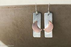 Moon earrings mixed