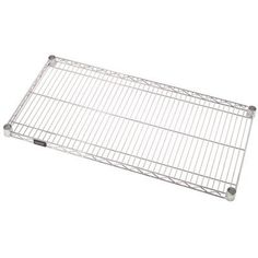 """Quantum Storage Systems 3042C Extra Shelf for 30"""" Deep Wire Shelves, Chrome Finish, 30"""" Width x 42"""" Length x 1"""" Height by Quantum Storage Systems. $49.99. Welded construction with additional wire trussing for high strength characteristics. Top mat wires run front to back for ease of loading and unloading. Wire allows air to circulate and light to penetrate for increased product visibility. Minimal dirt accumulation. Split conical sleeve adaptors secure shelf corner to post. Numb..."""