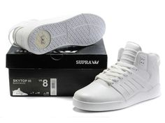 3bf226fbbb0 Supra Skytop III Mens Shoes In All White