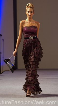 2. Resembles Minoan women skirts made of horizontalruffles or flounces.  Marisol Henriquez Couture Fashion Week New York ,Spring Collection 2013