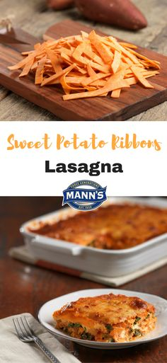 Sweet Potato Ribbons Lasagna   Mann's Fresh Vegetables  {Gluten-Free}