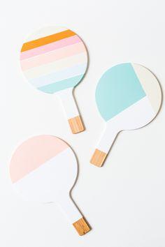 DIY colorblock trivets | sugarandcloth.com