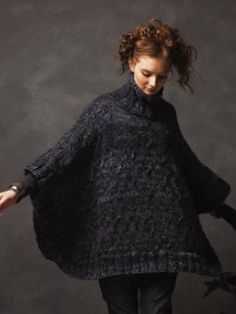 Comfort poncho  - Designer: Grace Melville Project Type: Women Project Subject: Knitting Recommended Products: Drift This pattern is featured in the following: Winter Drift