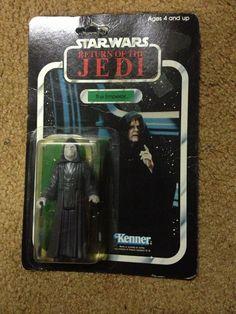 Vintage The Emperor 1984 Kenner Star Wars RotJ Carded Action Figure MOC 79 Back