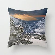 Sun rays..... Throw Pillow by Guido Montañés - $20.00