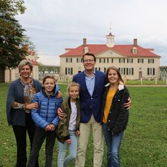 Countess Eloise, Countess Leonore and Count Claus-Casimir visit the George Washington's Mount Vernon
