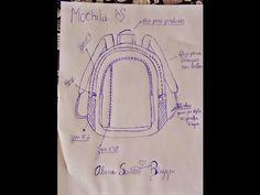 Molde Mochila Alana Santos Blogger - YouTube