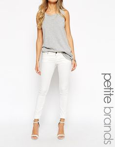 Noisy May Petite Low Waist Skinny Jeans