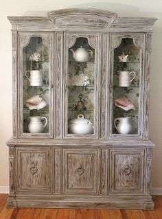 Restoration China Cabinet by LaVantteHome on Etsy $855.00 & The Art of Accessorizing a China Cabinet | Plate stands China ...