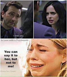 Hahahahaha omg this made me laugh and now I feel bad! Jessica Jones / Doctor Who