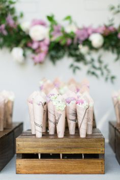 Flower favors: http://www.stylemepretty.com/vault/search/images/Flowers