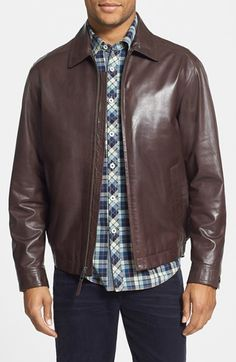$895, GoldenBear Golden Bear Lambskin Jacket. Sold by Nordstrom. Click for more info: https://lookastic.com/men/shop_items/364638/redirect