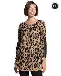 Black Label Leopard Knit Sweater
