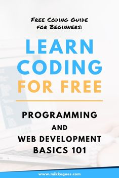Free Coding Guide for Beginners – Start Learning Programming Online – Best Art images in 2019 Learn Programming, Computer Programming, Computer Science, Python Programming, Computer Lab, Learn Computer Coding, Learn Coding, Computer Basics, Coding Tutorials