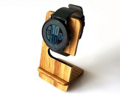 Wooden ANY Watch Stand Oak Wood Minimalist Smart Watch Stand Rustic Apple Watch Display Stand Gift Idea for Her Gift for Him for Husband