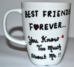 Best Friends Forever Mug  BFF Funny gift  White by DreamAndCraft, $15.00