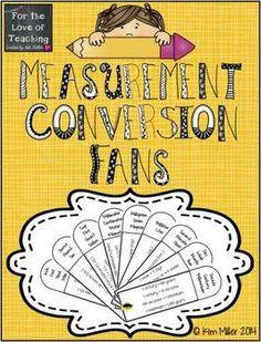 Love this great FREEBIE. Create a measurement conversion FAN!