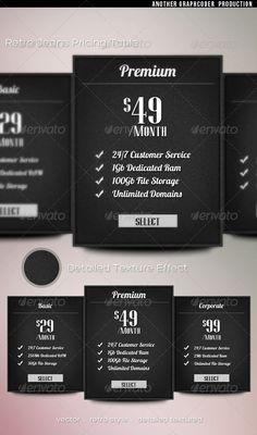 Minimal Retro Jeans Pricing Table