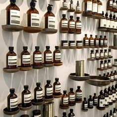 I adore the Aesop brand - from their endless architectural innovation (including a NY kiosk made of 1000 newspapers) to the minimal labels on their vintage-inspired brown medicine bottles. #branding #design