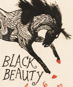 Tamaki Black Beauty Book Cover - well done and interesting illustration. Really cool and rough looking ink drawing, really cool. Best Book Covers, Beautiful Book Covers, Cover Books, Book Cover Design, Book Design, Layout Design, Gatsby Book, Tamaki, Penguin Classics
