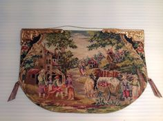unknown artist - Louis XIV petti point wall hanging; sold on ebay for $135