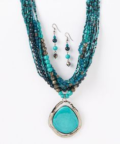 Another great find on #zulily! Crossing Waters Pendant Necklace & Earrings by LOLO by New Dimensions #zulilyfinds