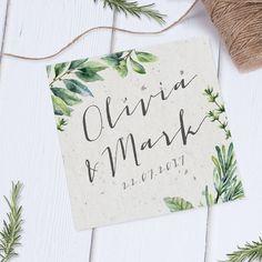 Botanical Garden herb spring wedding invite by Heart Invites