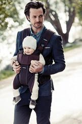 The convertible Baby Bjorn Baby Carrier One provides four different carry positions, and allows you to shift your little one from the front to the back position without help. $199. For local retailers, visit babybjorn.com.