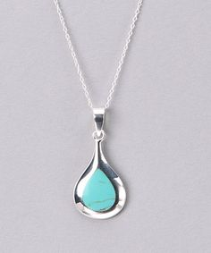 Take a look at this Blue Sterling Silver Pendant Necklace by Silver Lining: Women's Jewelry on #zulily today!