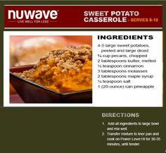 NuWave Sweet Potato Casserole