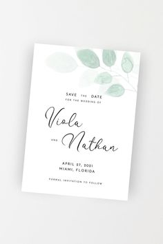 Wedding Save the Date, Greenery Save the Date, Save the Date Template, Editable Wedding Save Our Date, Modern Greenery Save the Date Modern Save The Dates, Wedding Save The Dates, Save The Date Templates, Wedding Templates, Bachelorette Party Invitations, Bridal Shower Invitations, Electronic Save The Date, Wedding Greenery, Get The Party Started