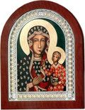 Srebrna Ikona Matka Boska z Dzieciątkiem, doskonały prezent dla młodej pary z okazji ślubu. #dla_babci #chrzest #rocznica