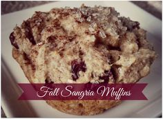 """Two things that I love: fall and sangria.  These muffins are the best of both worlds. The grated apple adds moisture  and sweetness, while the spices and sparkling wine add a fun, fall flavor.  I've been slowly and surely working on an """"All Things Apple!"""" board on  Pinterest in order to compile all of the latest and greatest fall apple  recipes. There are some beautiful fall sangrias on there! I need to make  a few of them. ASAP.  Follow Morsels and Moonshine's board All Things Apple! on…"""