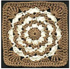 "Amber Waves 6"" Afghan Square Free Pattern"