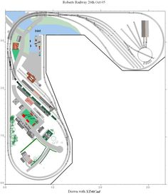ho scale l shaped layout - Google Search