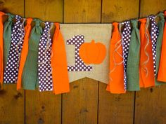 Pumpkin Birthday Banner HighChair High Chair by SeacliffeCottage