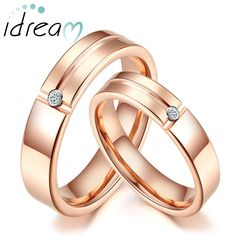 Rose Gold Tungsten Wedding Bands for Women and Men, Tungsten Carbide Engagement Ring with Grooves & Diamond - 4mm - 5mm, Matching Couple Jewelry for Him and Her