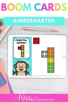 Students will build numbers and practice number formation in these distance learning kindergarten activities. This is perfect for beginning of the year kindergarten. Miss Kindergarten, Kindergarten Math Activities, Math Literacy, Maths, Magic E Words, Number Formation, Number Sense Activities, Daily Math, Reading Fluency