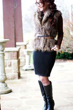 Delusions of Grandeur: Faux fur & black/tan