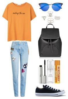 """""""Style #351"""" by maksimchuk-vika ❤ liked on Polyvore featuring Kenzo, MANGO, Gucci, Converse, Chantecaille, Christian Dior and Charlotte Russe"""
